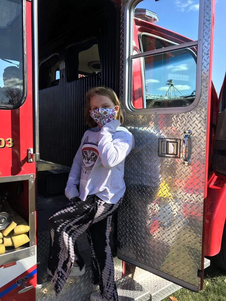 Checking out the fire truck!