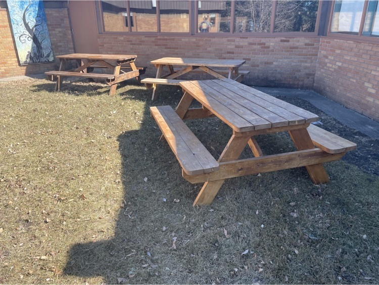 Picnic tables made my Ag Mech students.