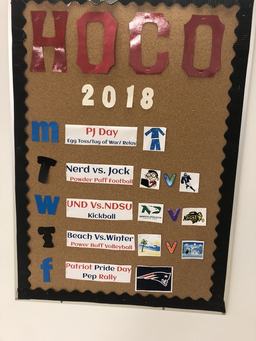 The high school is ready for our Homecoming activities next week!