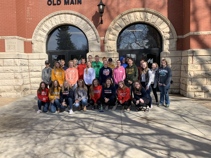 9th graders visiting MSU to learn about technology use.