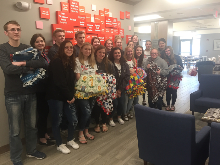 Blankets for Ronald McDonald house from MPCG FCCLA!