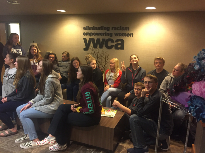 YWCA tour for MPCG FCCLA ... more blankets to donate!