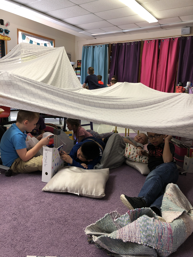 Fort and flashlight reading