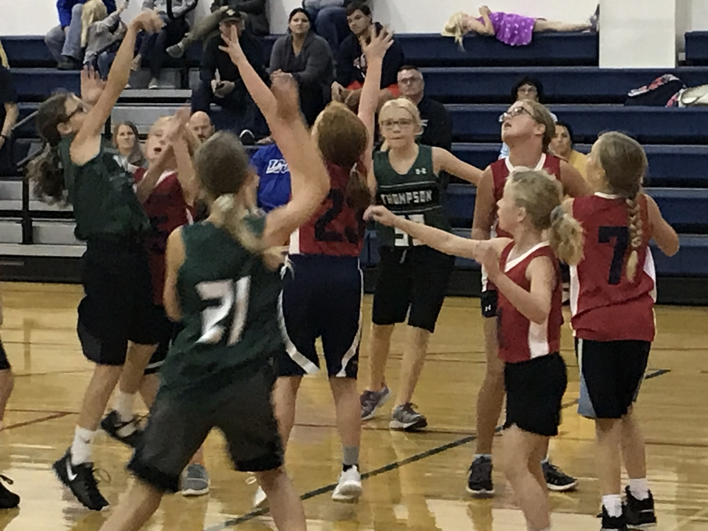 Fifth and sixth grade basketball action.