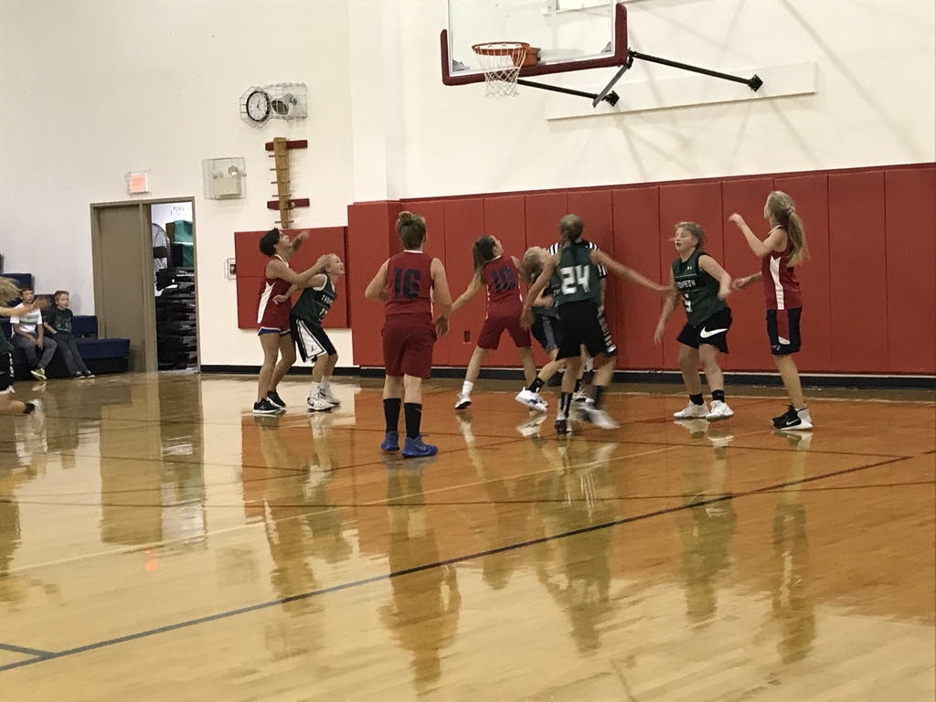 Fifth and sixth grade basketball action