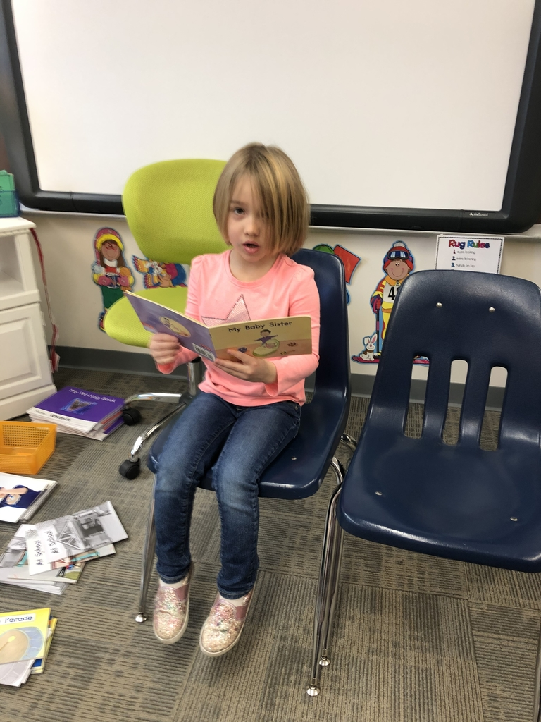 Reading to the class!