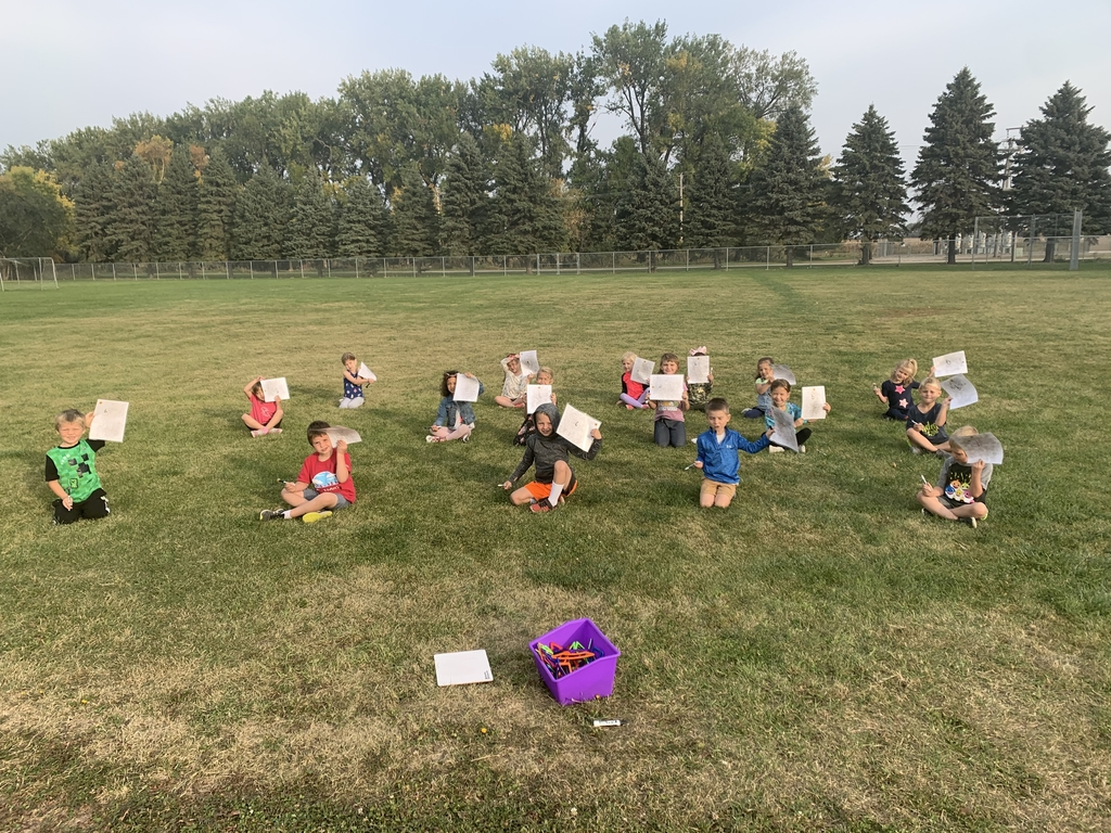Miss Roder's class enjoyed math outside on this beautiful day!